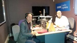 Grant Peisley speaking on Radio Cymru