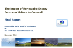 The Impact of Renewable Energy Farms on Visitors to Cornwall