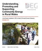 thumbnail image of document 'understanding, promoting and supporting community energy in rural Wales'